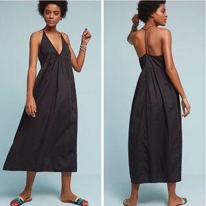 ANTHROPOLOGIE LACAUSA Audra Maxi Dress Black NWT L